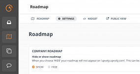 Option to hide the roadmap