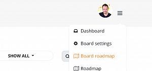 Board-specific roadmap widgets