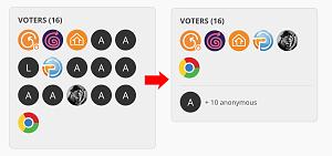 Bundle anonymous votes